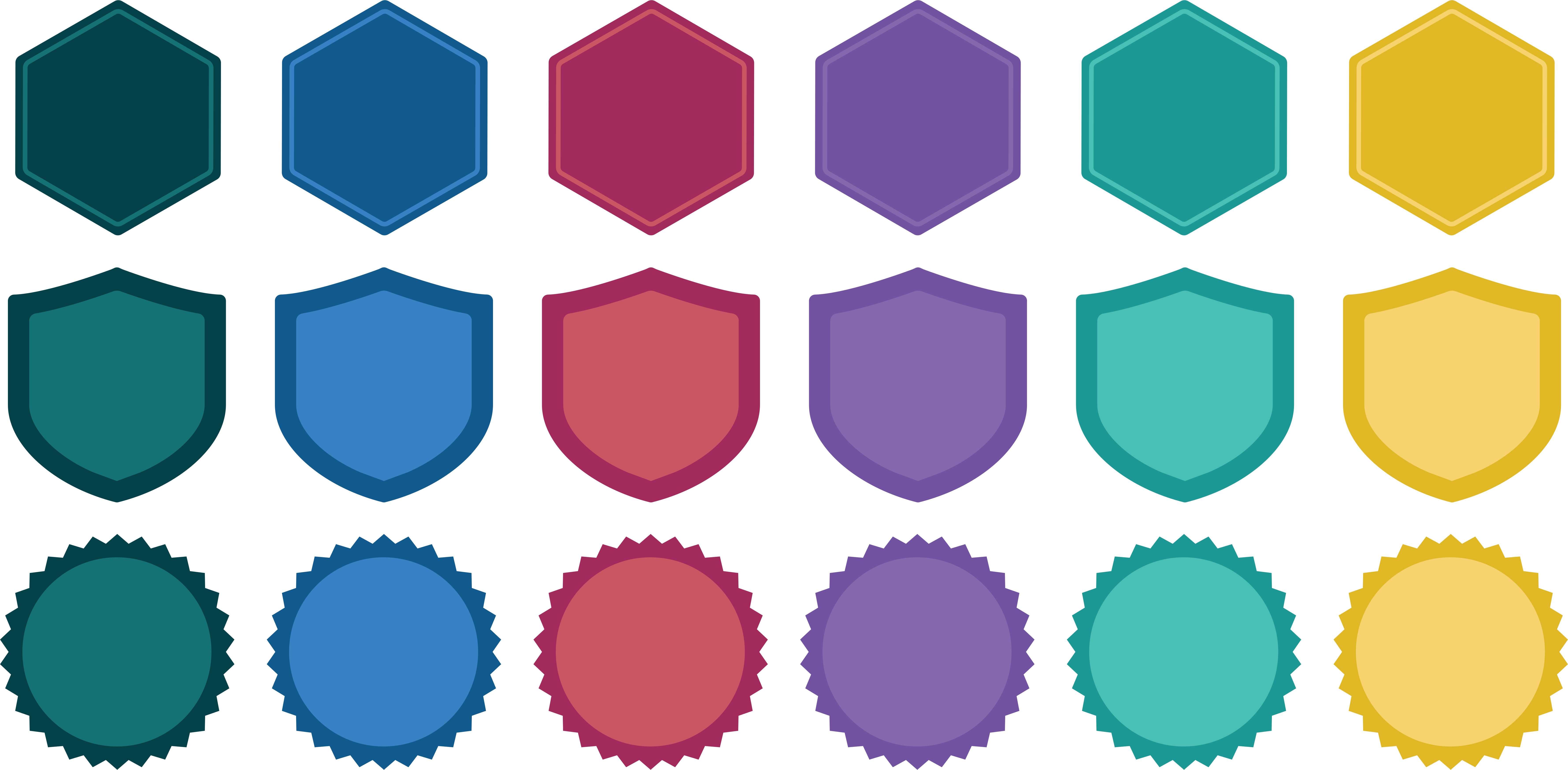 Badge shapes png. Designing a accredible add