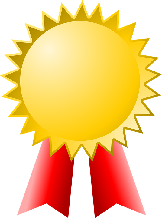 Badge transparent champion. Collection of free honoring