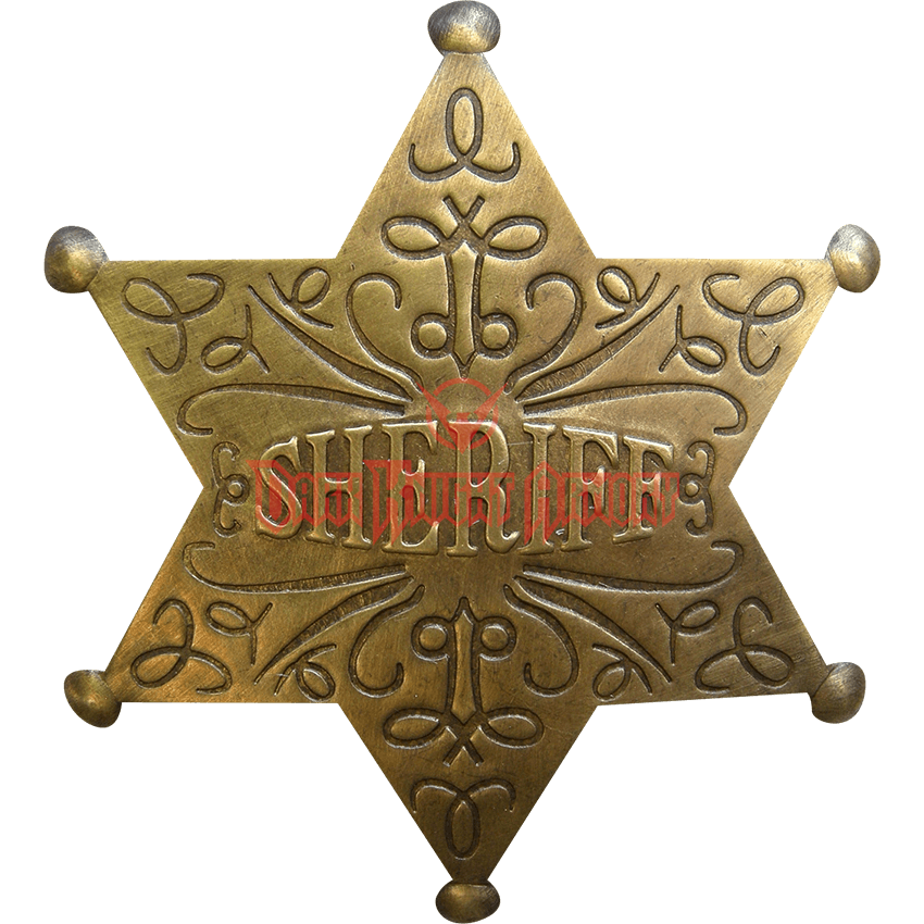 Badge transparent fancy. Sheriff oh from dark