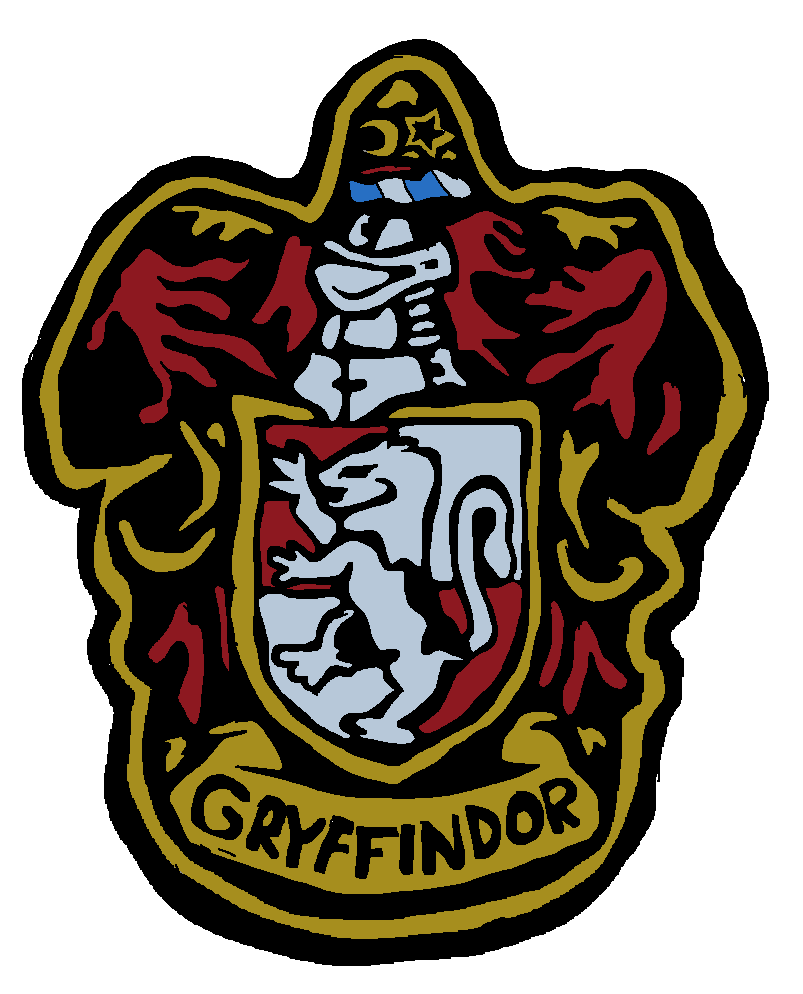 Badge transparent gryffindor. By furry fruit on