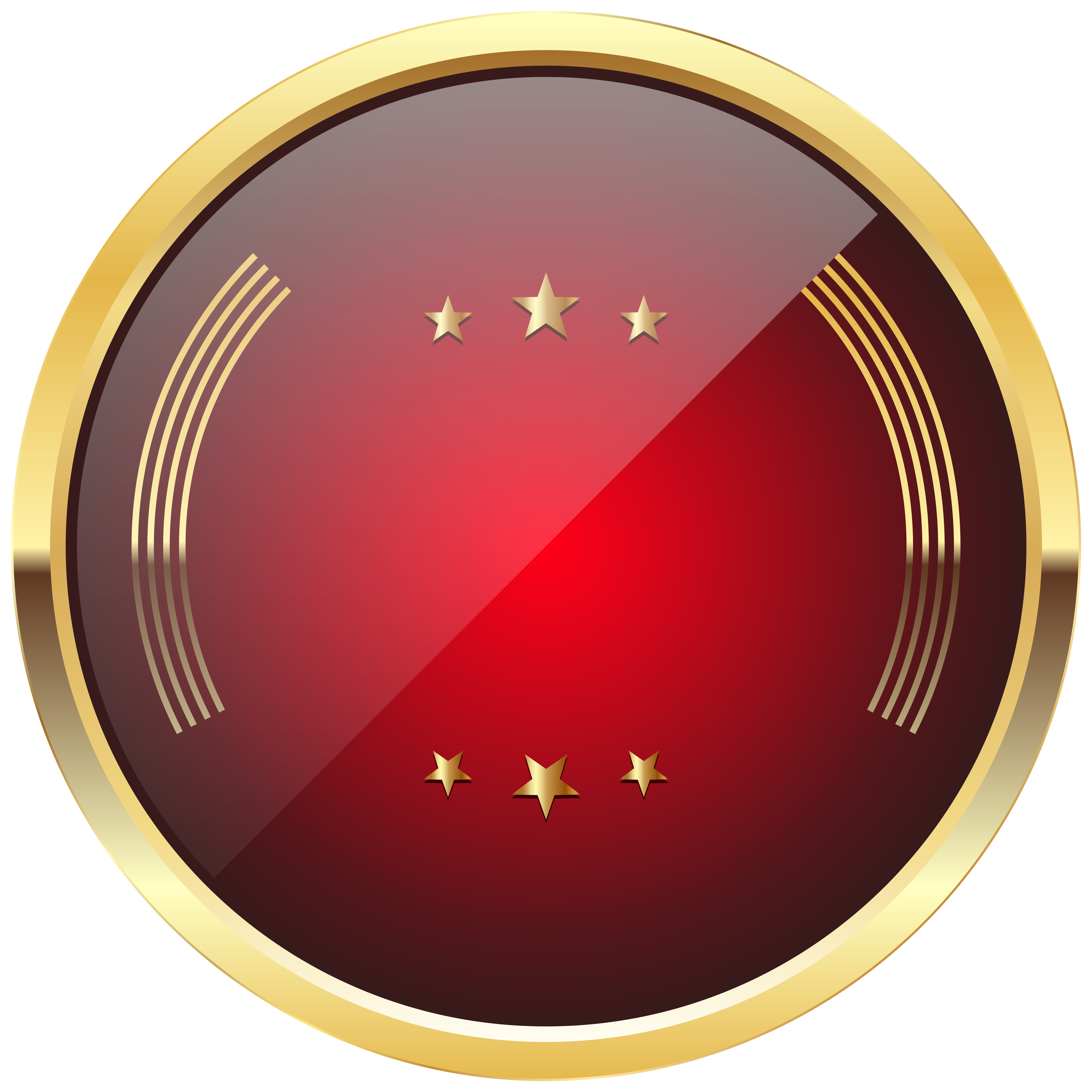 Badge transparent png. Red template clip art