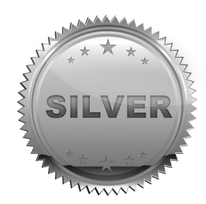 Badge transparent silver. Tms facilities silverbadgex