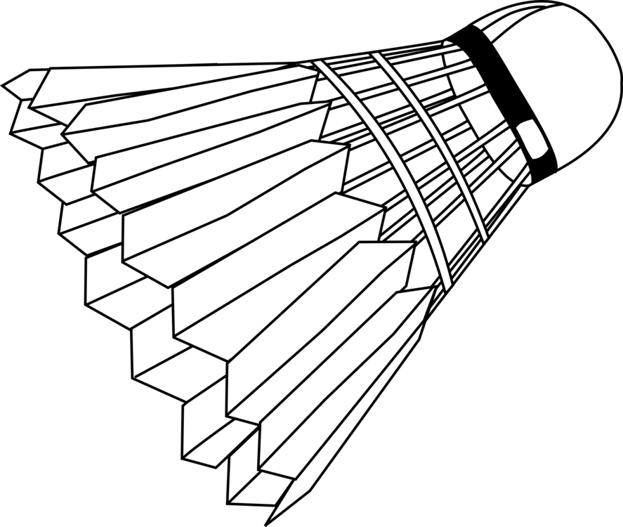 Badminton clipart. Shuttlecock badmintonracket sports free