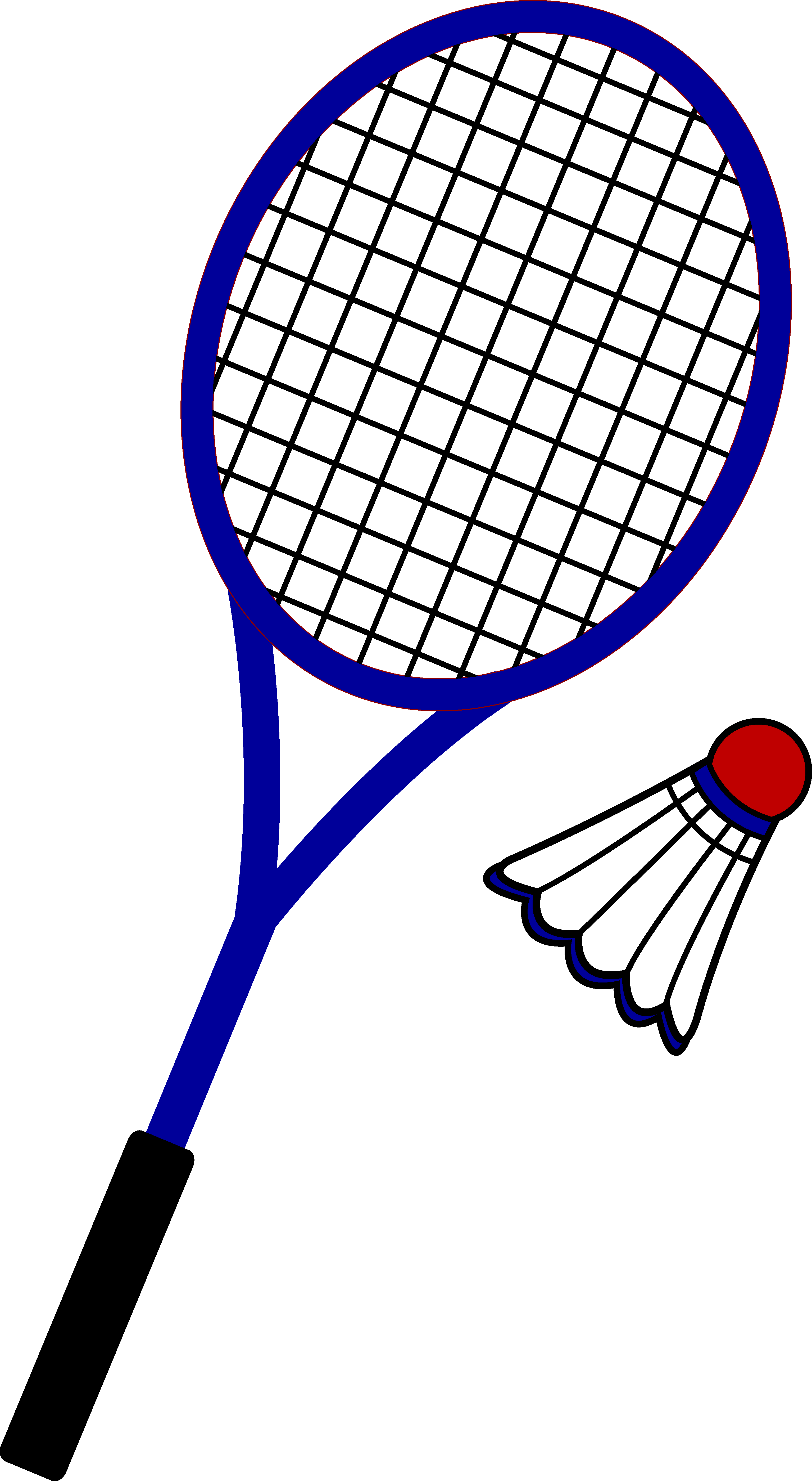 Racquet and birdie free. Badminton clipart graphic library download