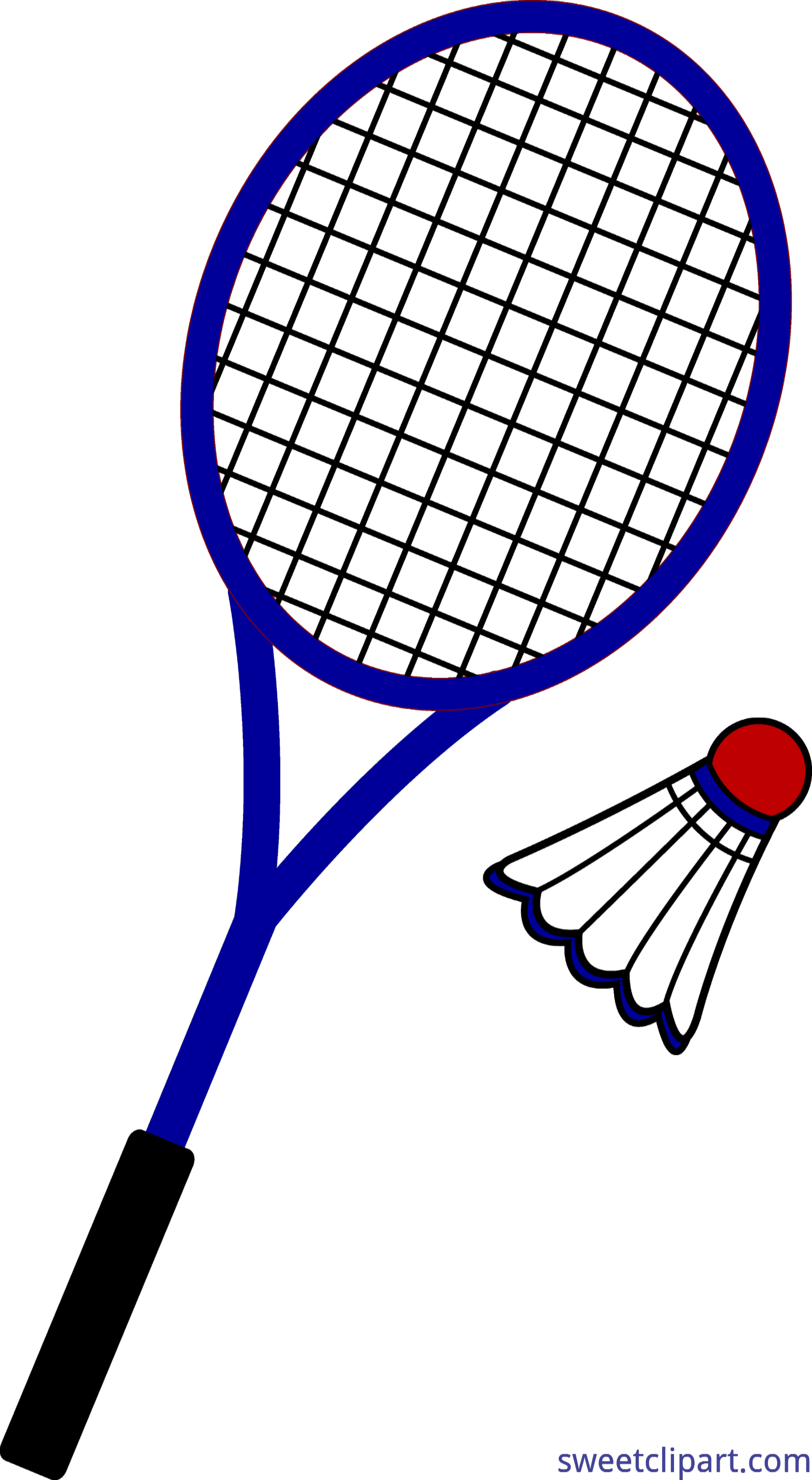 Clip art sweet. Badminton clipart black and white stock