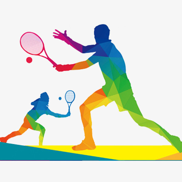 Badminton clipart. Competition cartoon hand painted