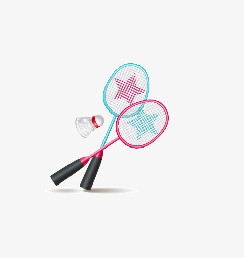 Badminton clipart lukisan. Vector png and for