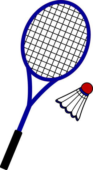 Racquet and birdie free. Badminton clipart lukisan vector free download