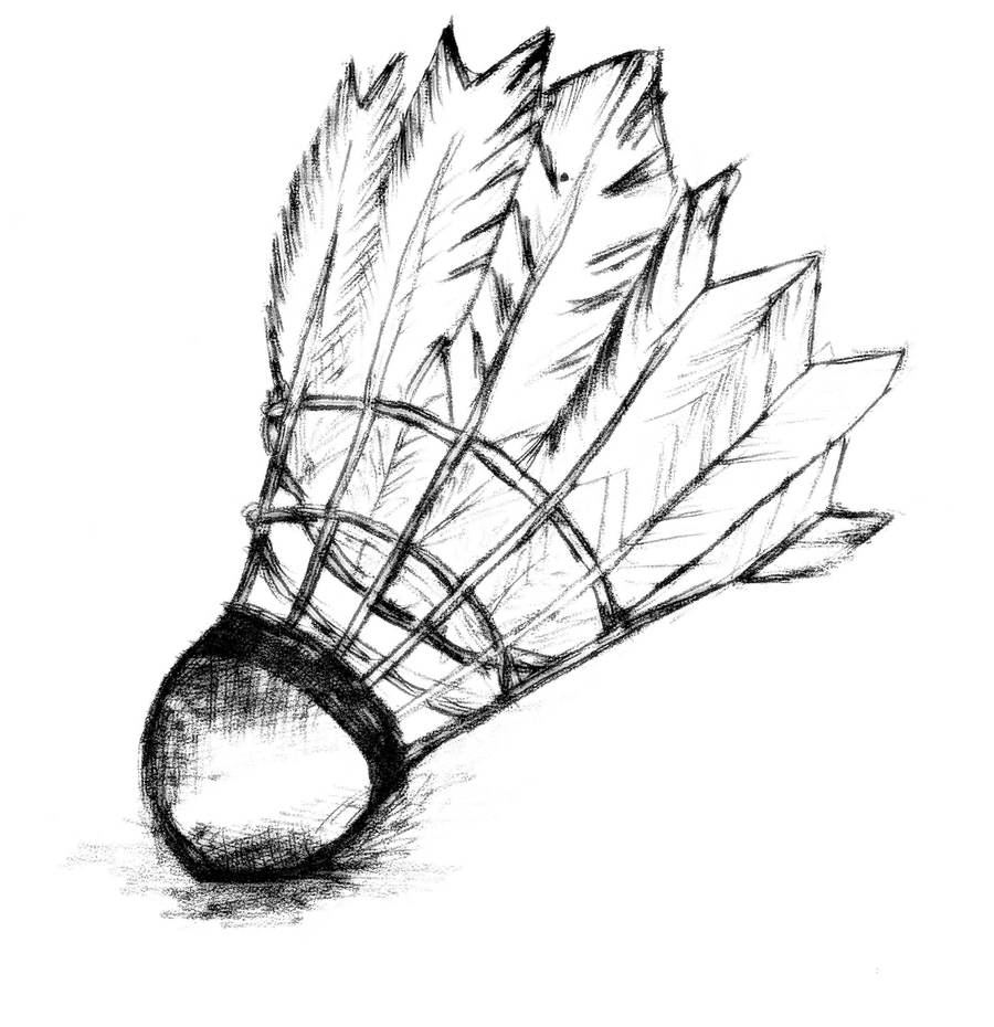 contest for free. Badminton drawing outline graphic freeuse stock