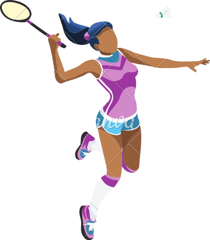 Badminton clipart symbol. Girl icons by canva