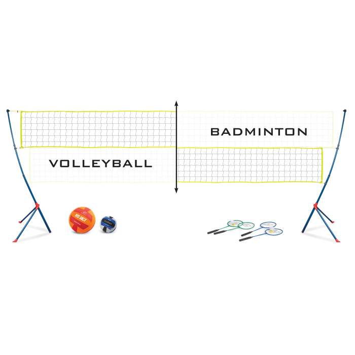 Badminton clipart volleyball game. Outbound easy setup serve