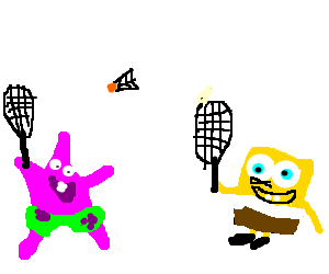 Shampoo drawing animated. Spongebob and patrick play