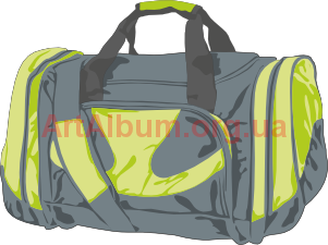 Bag clipart duffle bag. Gray vector artalbum org