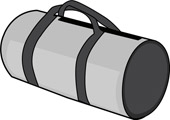 Bag clipart duffle bag.