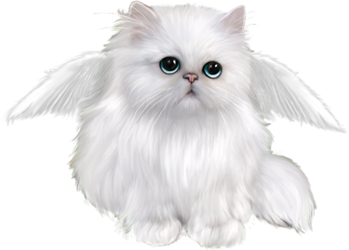 Bag clipart let the cat out. Angel kitty clip art