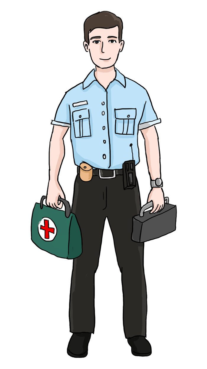 Ambulance clipart ambulance officer. Paramedic free clip art