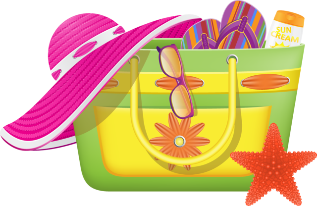 Bag clipart swimming bag. Free beach cliparts download