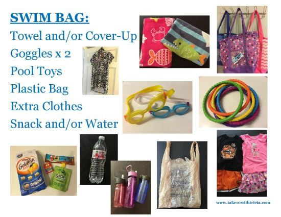 Bag clipart swimming bag. Swim checklist for kids