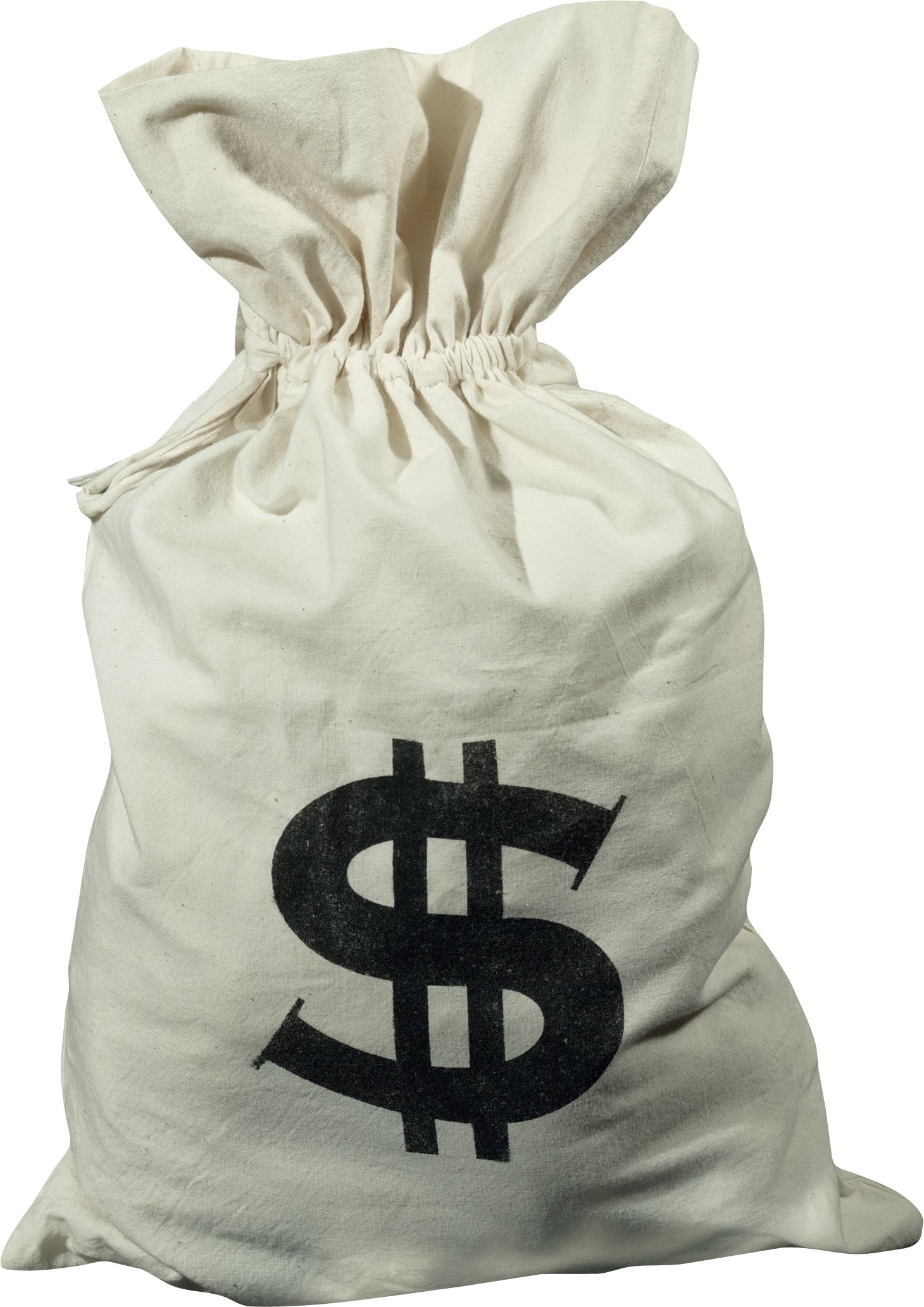 Bag of cash png. Money one isolated stock