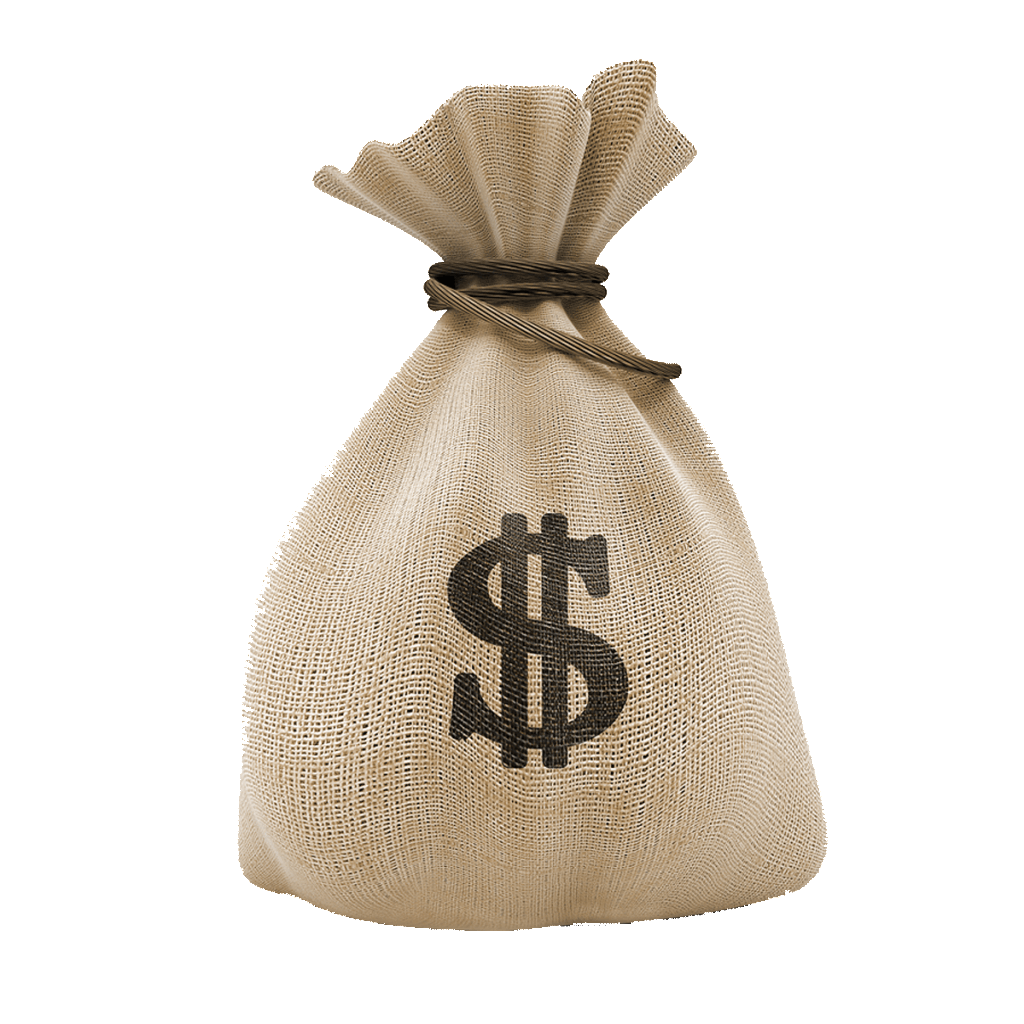 Bag of cash png. Dollar money transparent stickpng
