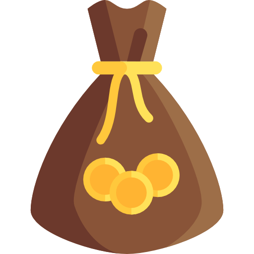 Bag of money png. Icon page svg