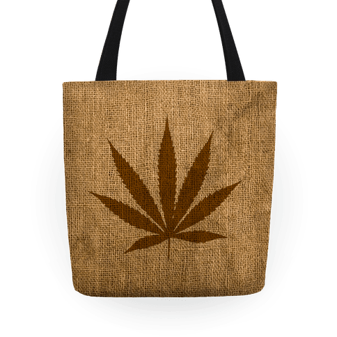 Bag of weed png. Faux burlap tote lookhuman