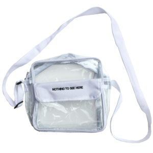 Transparent purses clear pvc. Shoulder bag preorder stripmall