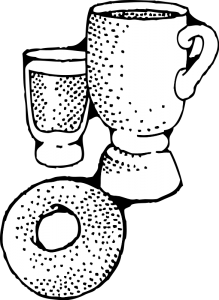 Bagel clipart black and white. Free breakfast image clip