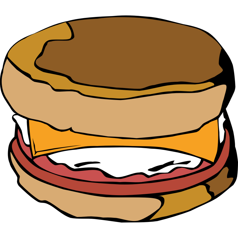 Bagel clipart egg. Free images of breakfast
