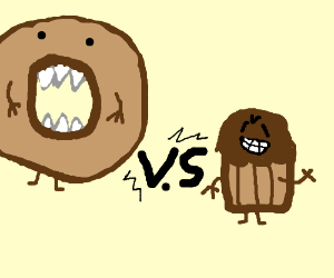 Bagel clipart muffin. Beast vs trouble