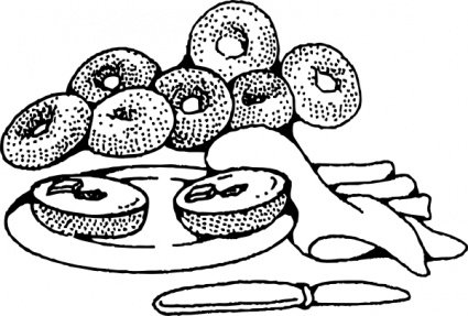 bagel clipart pastry