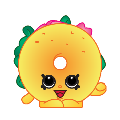 Bagel clipart yellow. Shopkins billy a common