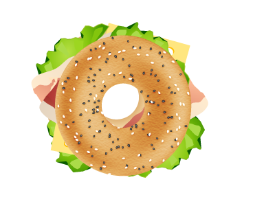 bagel clipart yellow
