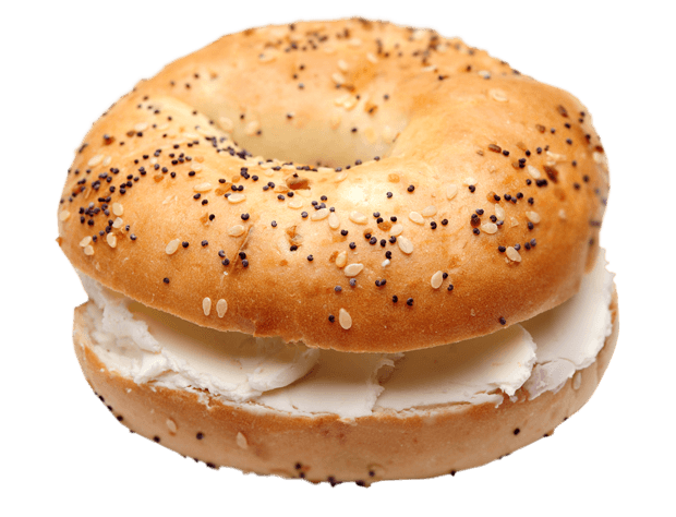 bagel with cream cheese png
