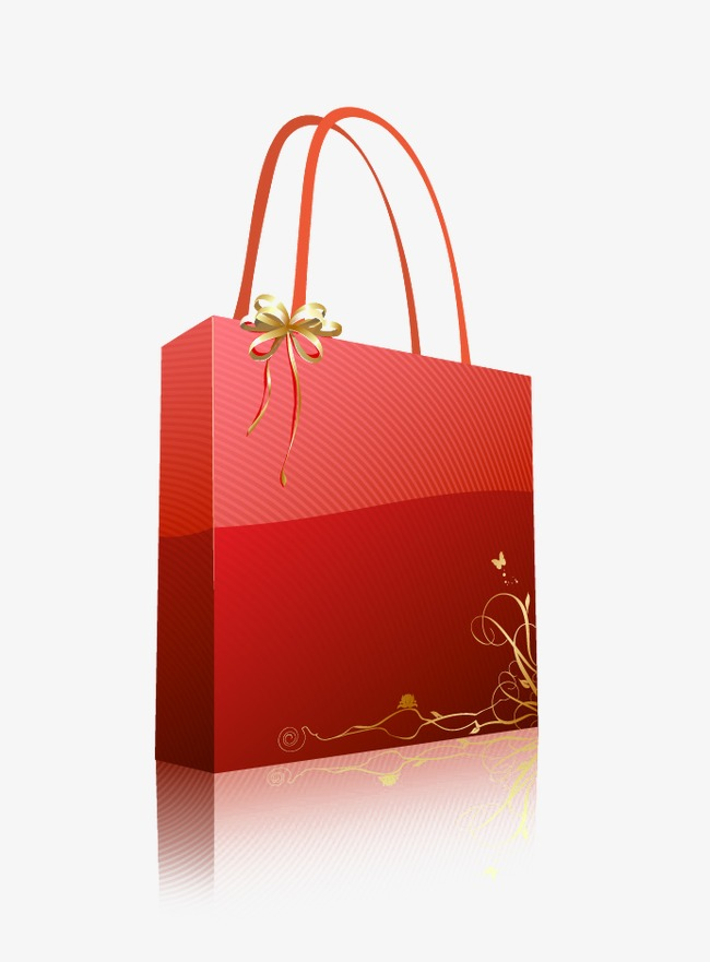 Bags clipart giftbag. Red gift shopping bag