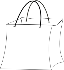 Bags clipart giftbag. Gift bag outline clip