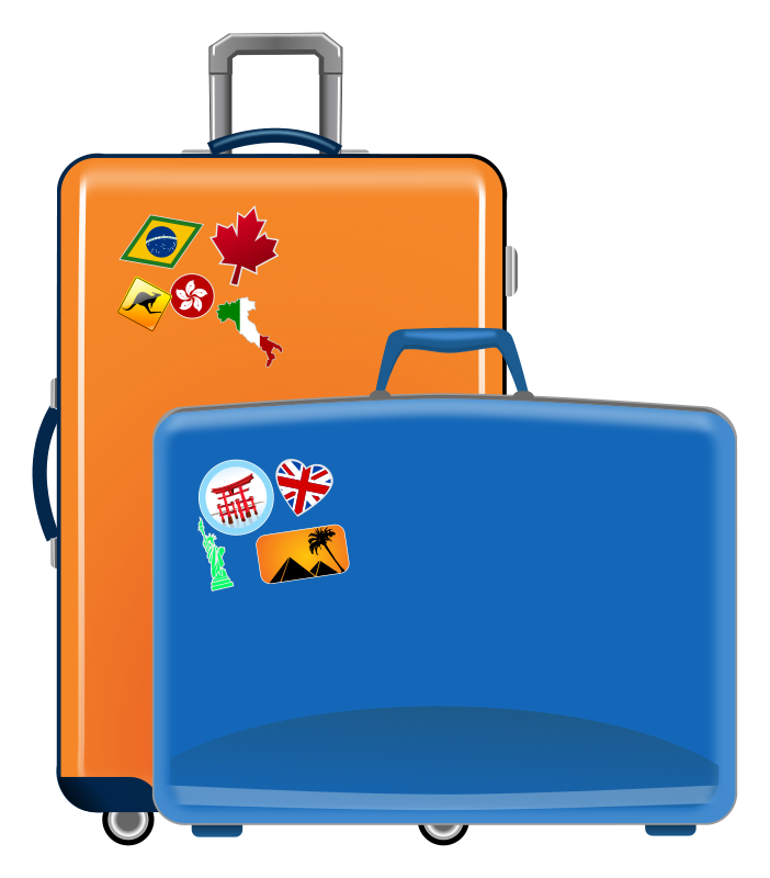Briefcase clipart cartoon. Free cliparts travel luggage