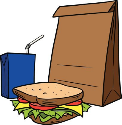 Bags clipart lunch. Bag brown a movie