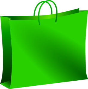 Bags clipart shooping. Green shopping bag clip