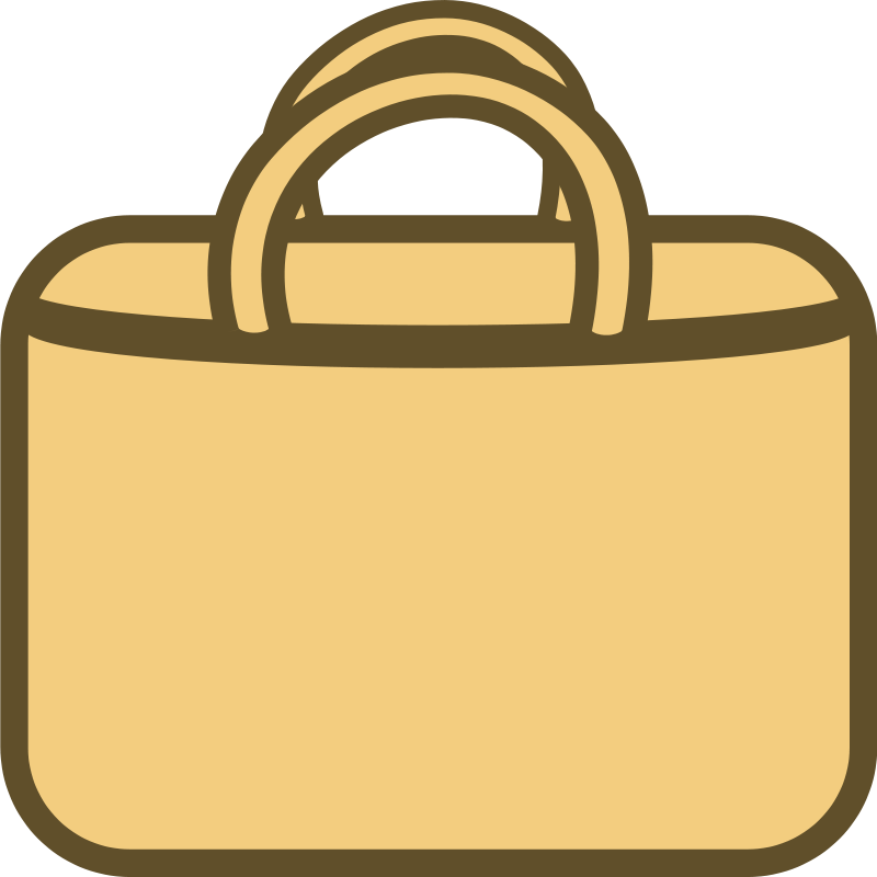 Luggage clipart messy. Free shopping bag download