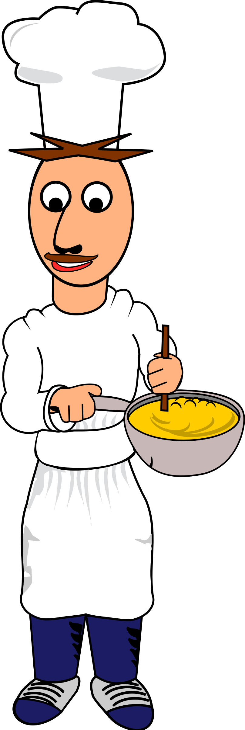 Man clipart chef. Free male cook cliparts
