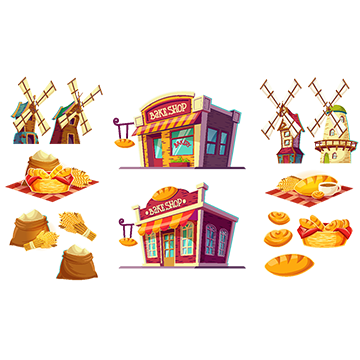 Awning vector canopy. Freshly baked bread png