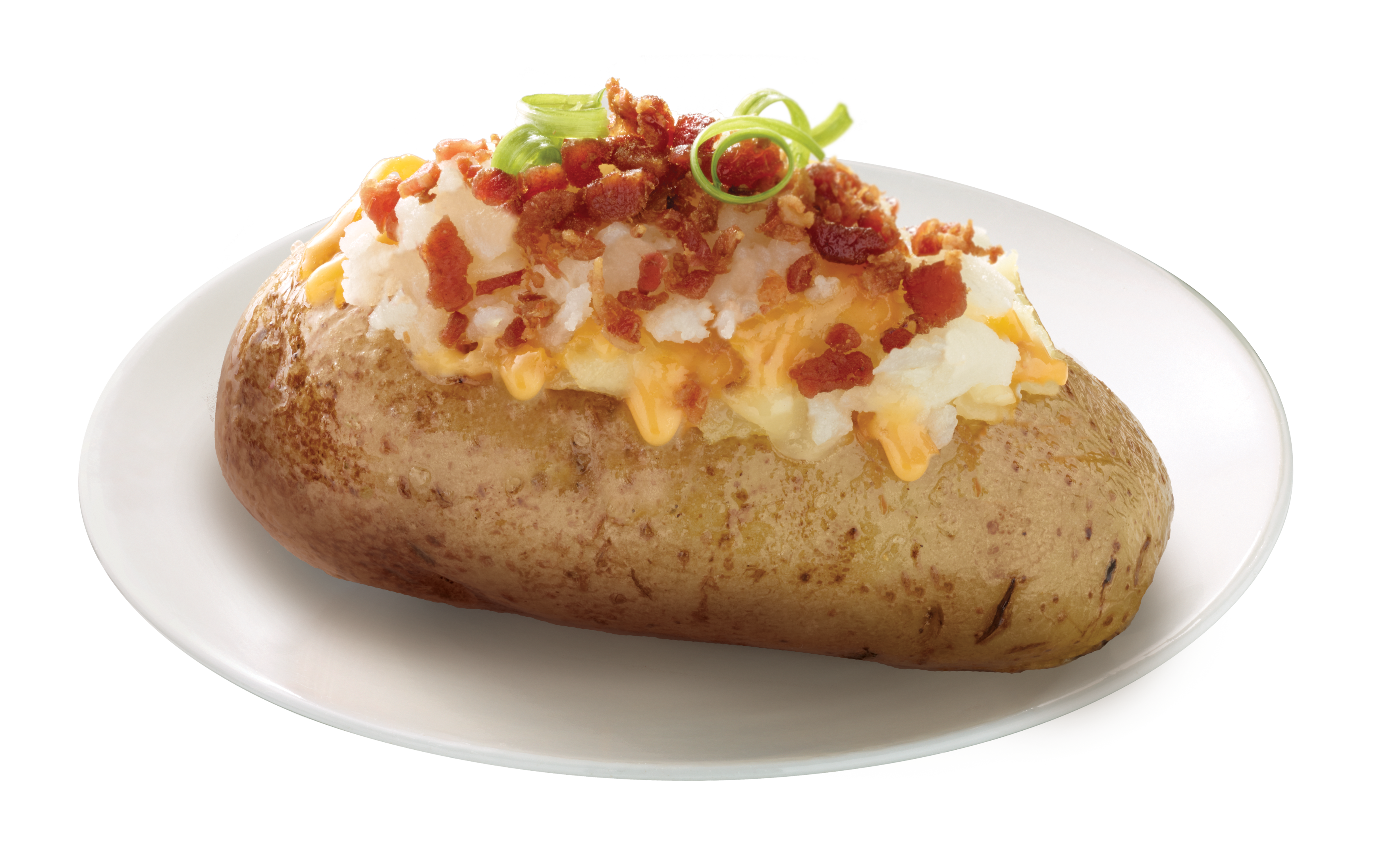 Stuffing bacon transprent free. Baked potato png black and white library