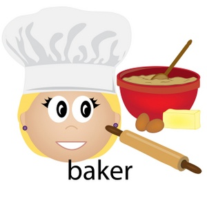 Baker clipart woman baker. Free image computer food