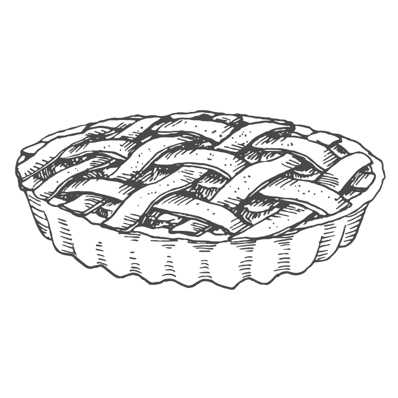 Two fat cats bakery. Pi drawing apple pie png black and white download