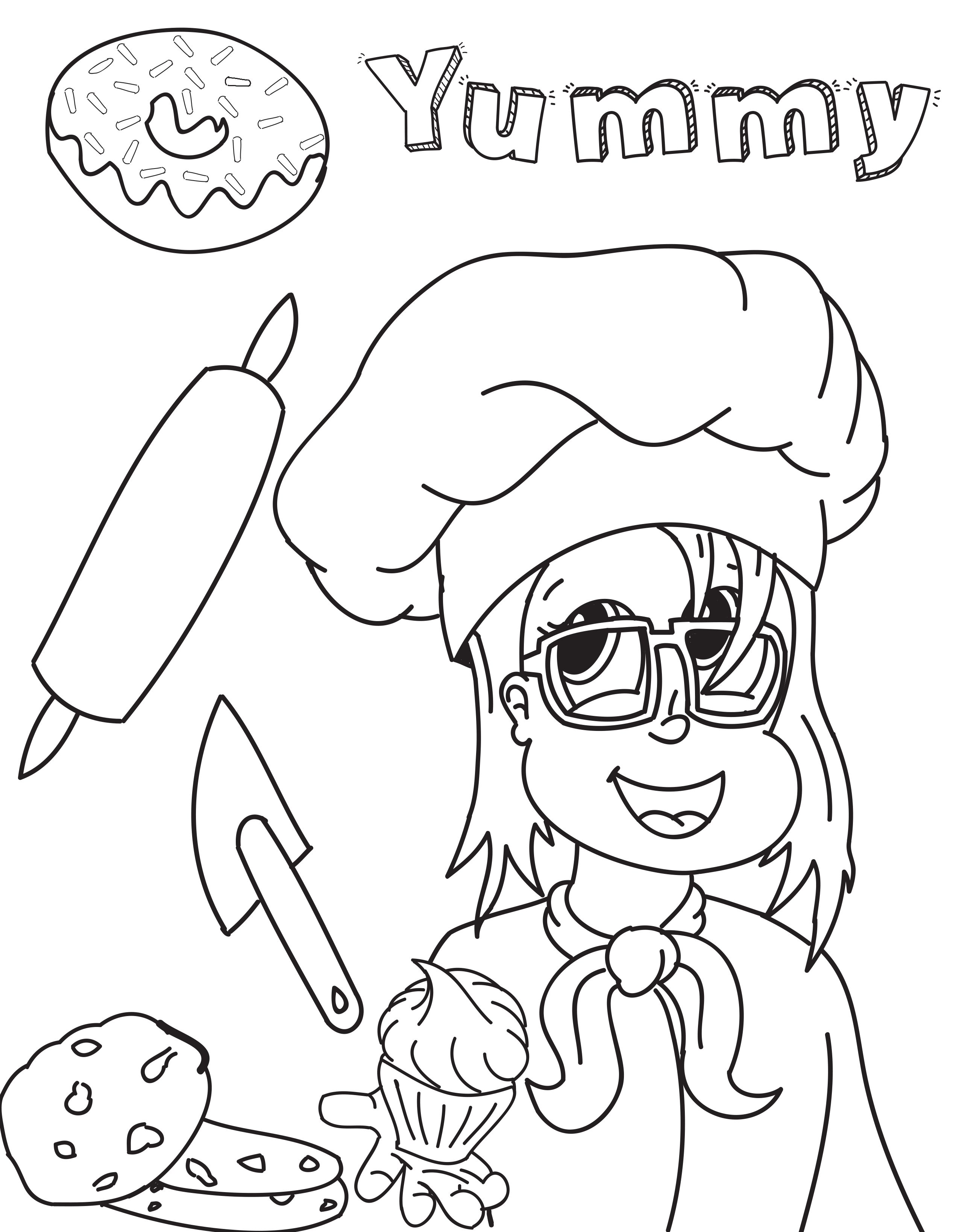 Baker drawing colouring page. Shotoftheyeagers com coloring
