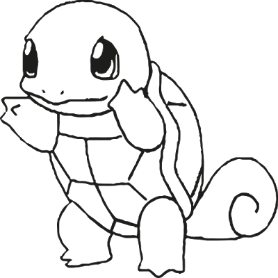 Baker drawing colouring page. Pokemon squirtle coloring pages