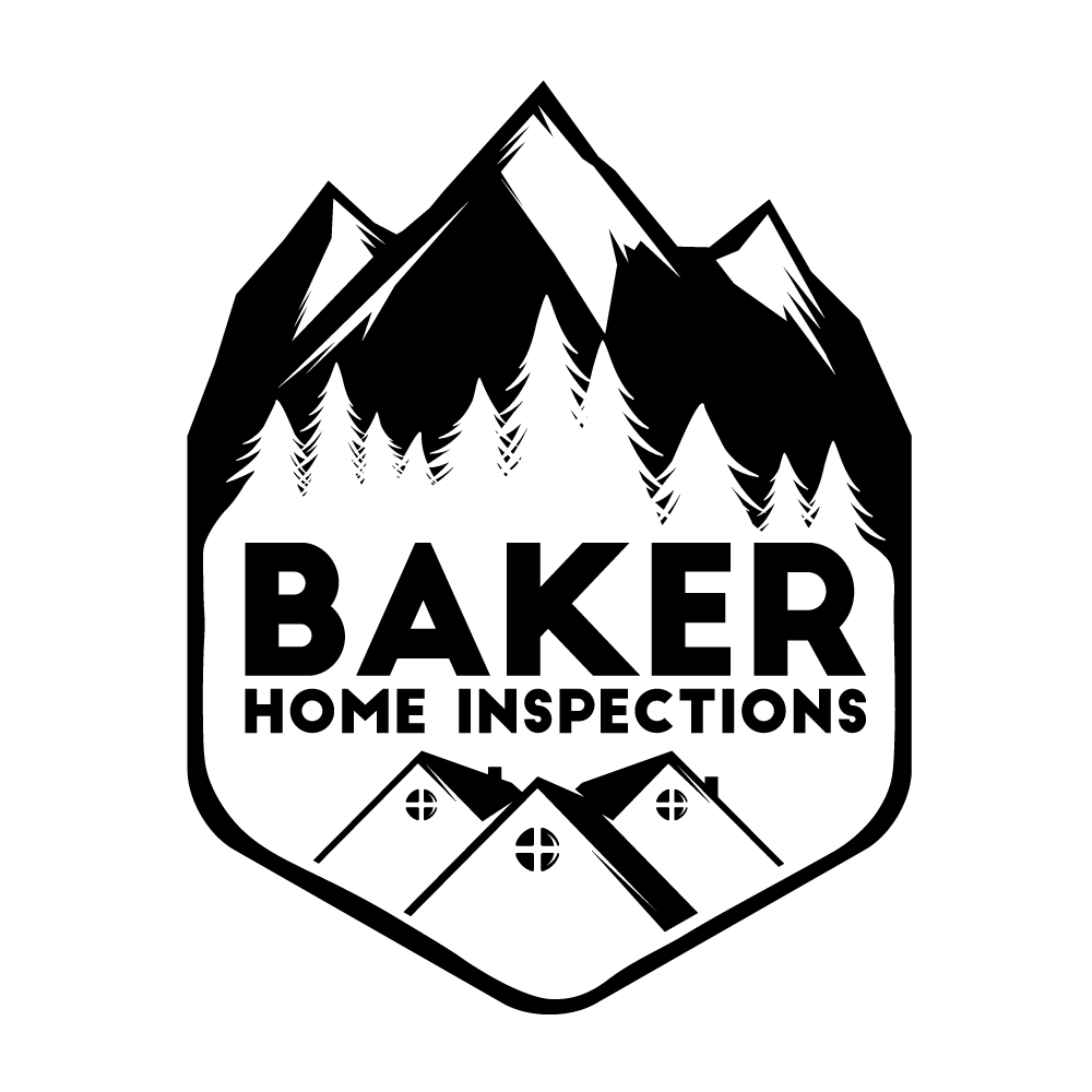 Baker drawing logo. Home inspections proudly serving