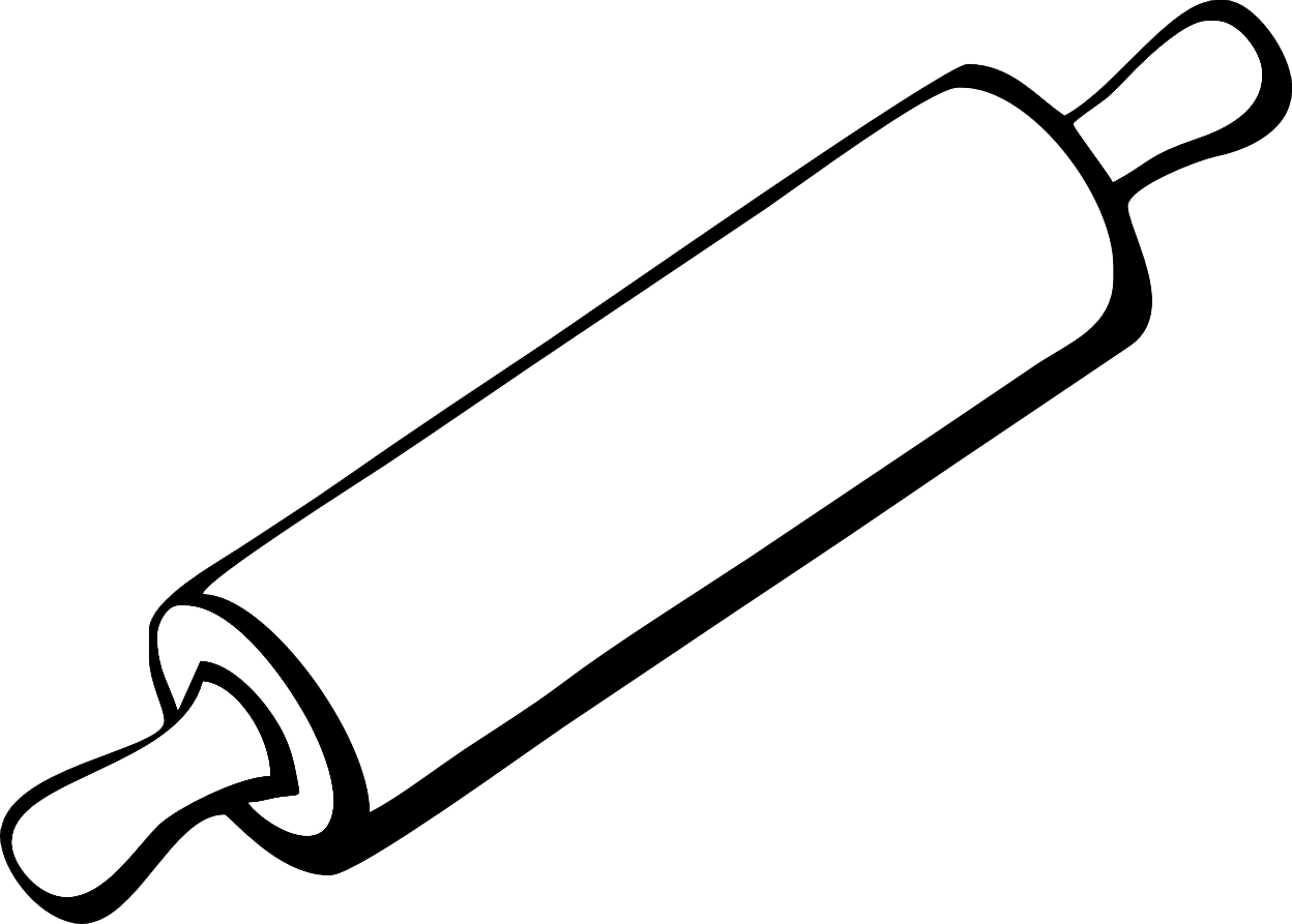 Baker drawing rolling pin. Collection of clipart