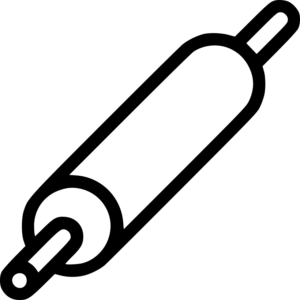 Baker drawing rolling pin. Svg png icon free